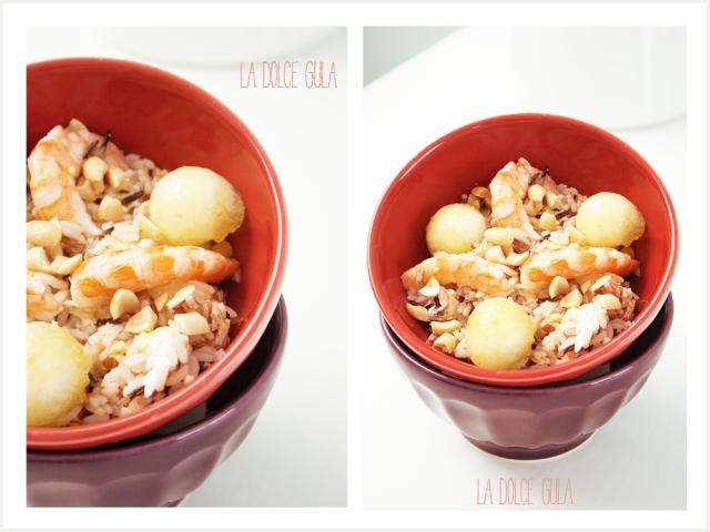 © La Dolce Gula-Picreceta LDG-Melon and Prawn Rice Salad ©