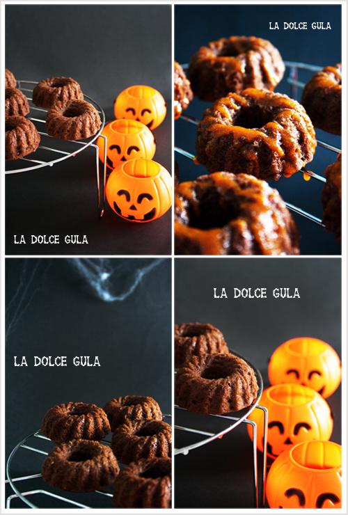 © La Dolce Gula Mini Bundt Cakes Con Glaseado De Calabaza©