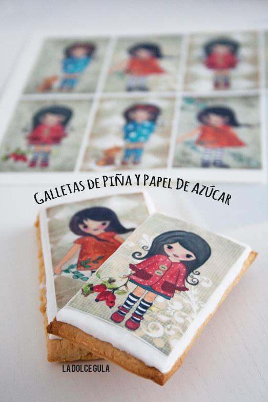 © La Dolce Gula Galletas De Piña Con Papel De Azúcar©