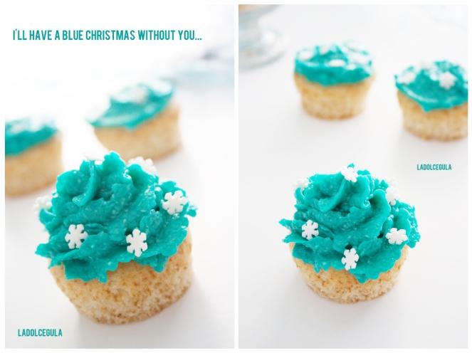 © La Dolce Gula Navidad Blue Christmas Cupcakesmas  ©