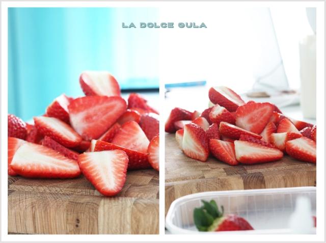© La Dolce Gula Tarta de queso y fresas ©