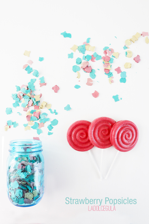 La Dolce Gula - Strawberry Popsicles 02