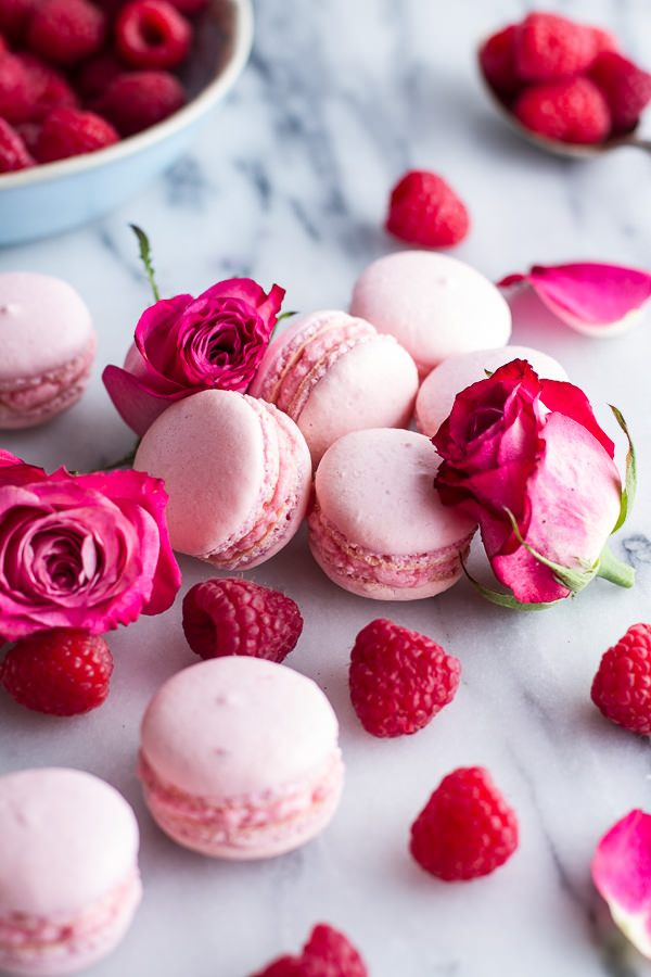 Coconut-Raspberry-Macarons-With-Raspberry-Rose-Buttercream